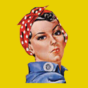 Rosie The Riveter wore head scarves as hair accessories