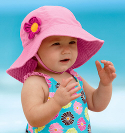 Baby with sun hat